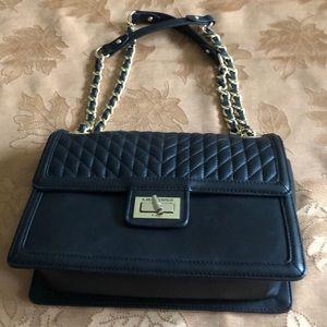 Karl Lagerfeld Agyness Black Quilted Handbag
